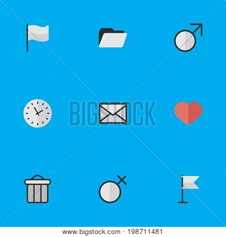 Vector Illustration Set Of Simple Design Icons
