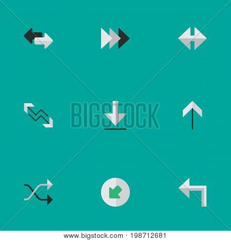 Vector Illustration Set Of Simple Cursor Icons
