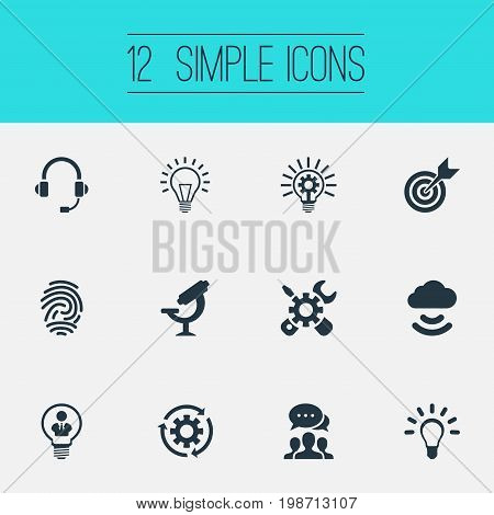 Vector Illustration Set Of Simple Invention Icons