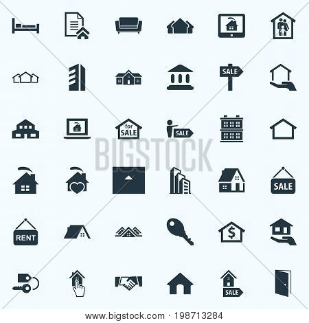 Vector Illustration Set Of Simple Property Icons