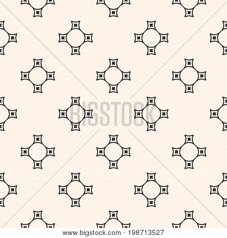 Vector minimalist seamless pattern, subtle geometric texture with thin curved linear shapes. Illustration in pastel colors. Simple abstract background, repeat tiles. Design for decor, fabric, textile.