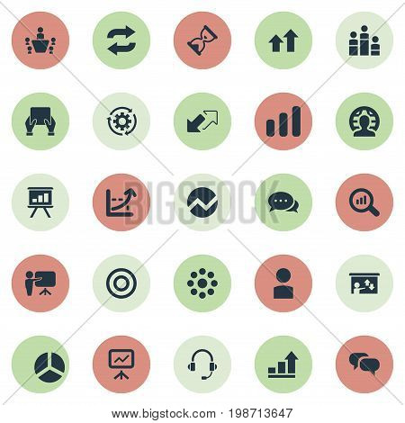 Vector Illustration Set Of Simple Training Icons