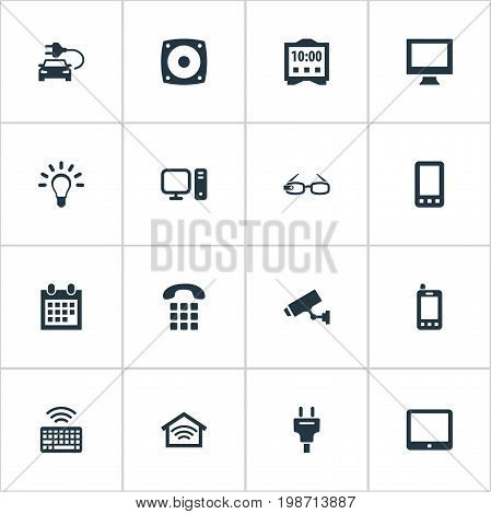 Vector Illustration Set Of Simple Smart Icons