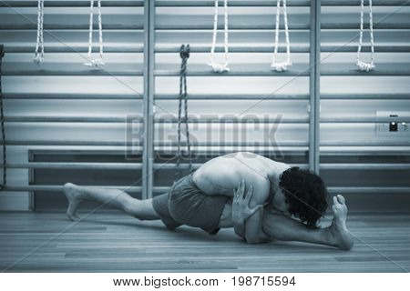 Man Yoga Teacher Splits