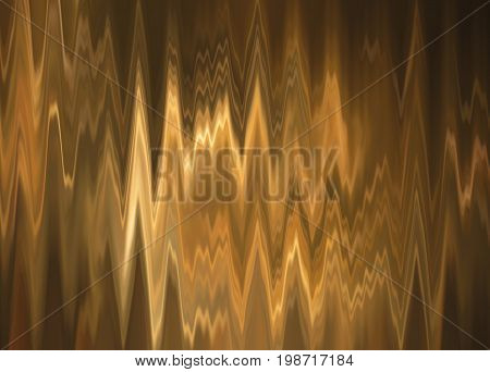 abstract background with irregular sharp waving yellow shapes