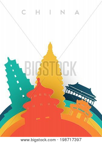 Travel China 3D Paper Cut World Landmarks