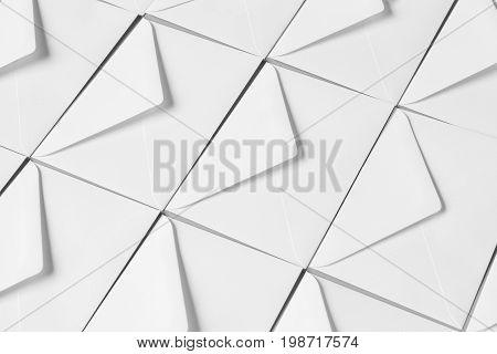 Blank portrait A4. blank realistic envelopes mockup on gray, changeable background / white paper isolated on gray