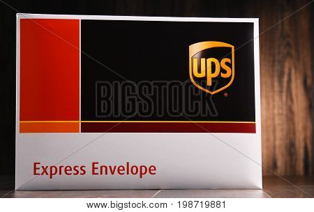 Envelopes Of Uinited Parcel Service Or Ups