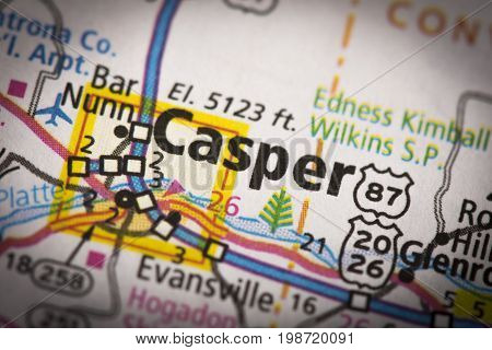 Casper, Wyoming On Map
