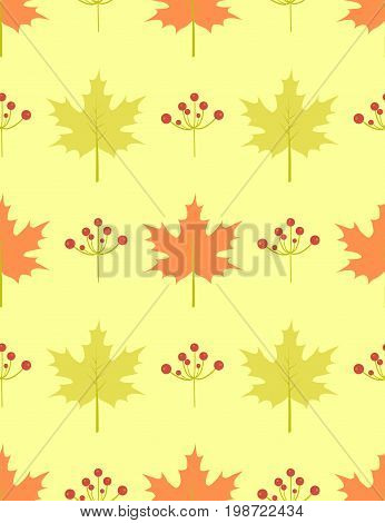 Leaves berry seamless pattern vector tracery, light, vintage, style