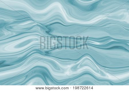 Colorful paintings of marbling, blue marble ink pattern texture abstract background. Can be used for background or wallpaper