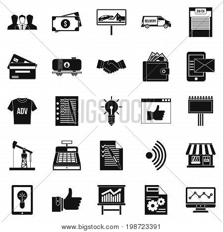 Spending icons set. Simple set of 25 spending vector icons for web isolated on white background