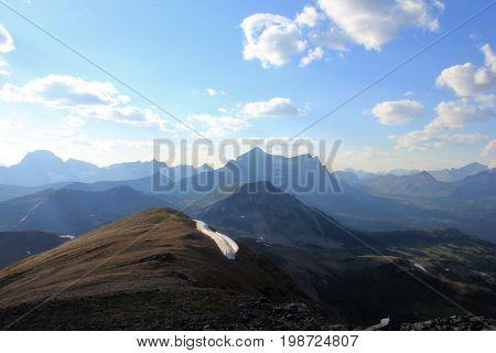 Monarch Mountain from the summit of Elysium Mountain, Jasper Alberta