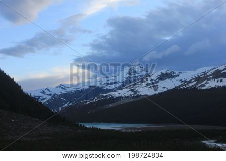 A front moving across Whitehorn Mountain, Mount Robson