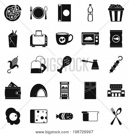 Dining icons set. Simple set of 25 dining vector icons for web isolated on white background