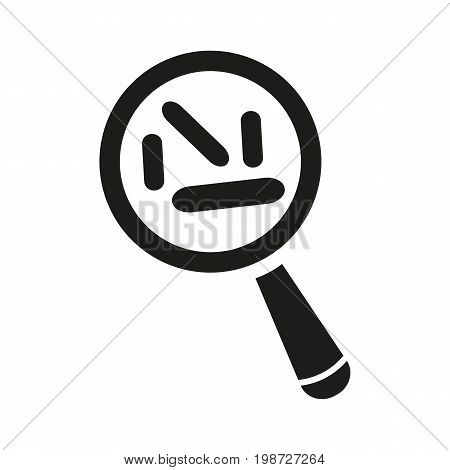Simple icon of microbes under magnifying glass. Bacteria, virus, exploration. Knowledge concept. Can be used for topics like microbiology, medicine, science