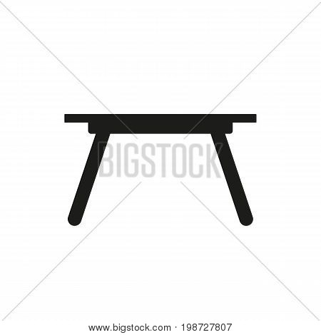 Simple icon of table. Desk, kitchen table, canteen. Furnishing concept. Can be used for topics like furniture, service, dining area
