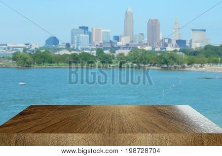 Table top style background with enough depth for you to accentuate your design.