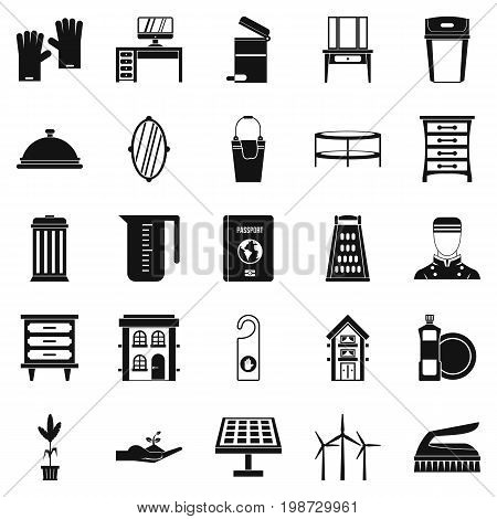 Refinement icons set. Simple set of 25 refinement vector icons for web isolated on white background