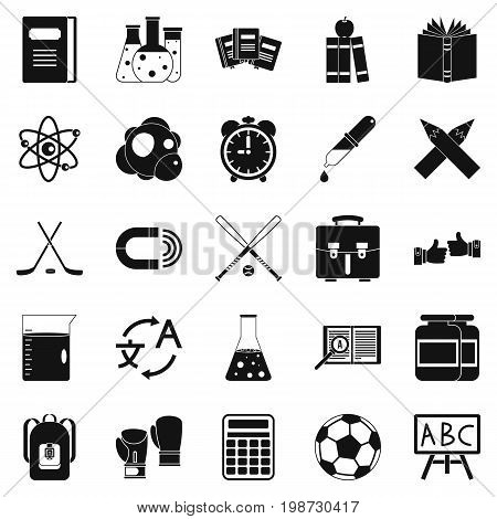 Campus icons set. Simple set of 25 campus vector icons for web isolated on white background