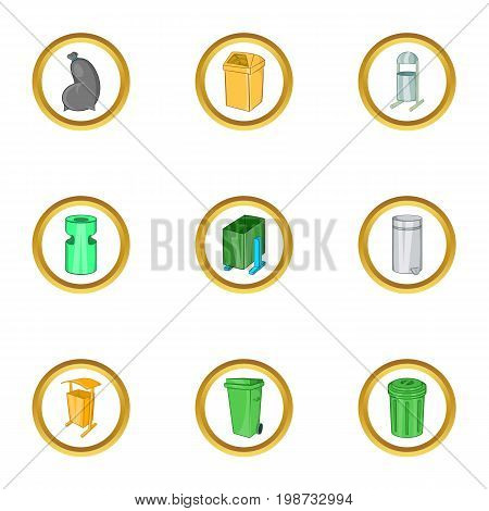Urns icon set. Cartoon set of 9 urns vector icons for web isolated on white background