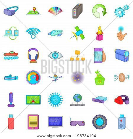 Wireless technology icons set. Cartoon style of 36 wireless technology vector icons for web isolated on white background