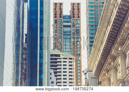 Office buildings in Chit Lom, Bangkok, Thailand