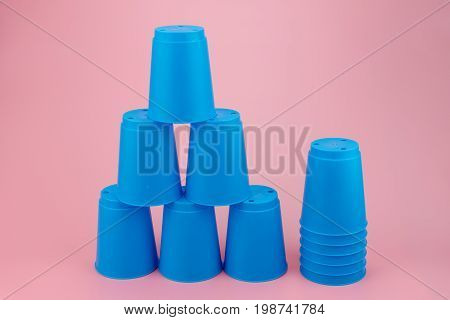 Blue Stacks Plastic Cups. Speed Stack Cup.