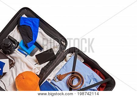 Suitcase Packed For Travelling