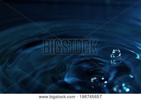 water droplet / Water is a transparent and nearly colorless chemical substance that is the main constituent of Earth's streams, lakes, and oceans, and the fluids of most living organisms