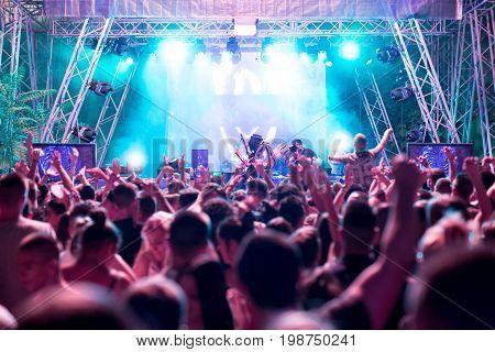 Electronic Dance Music Festival closeup beautiful picture