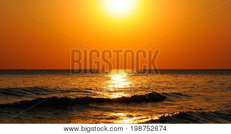 A Fantastic sun rise on the ocean