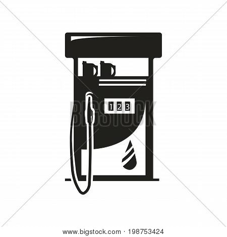 detailed gas pump illustration, icon design, isolated on white background.