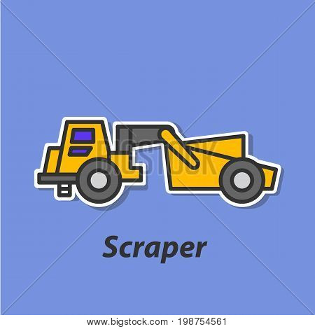 Scraper color flat icon. This is the vector icon for websites and electronic applications. This icon have a size of 48 by 48 pixels. Also you can edit the size of the icon in the graphical editor.