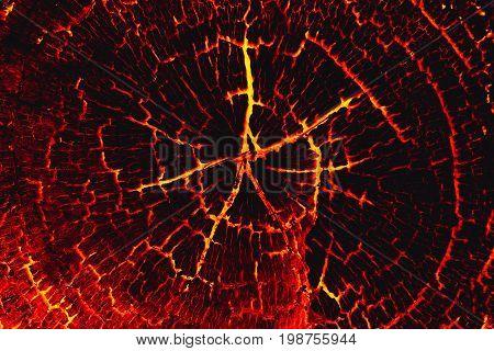 Lava burn wood texture background, Concept lava.
