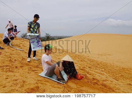 Sand Dunes In Mui Ne Township, Vietnam