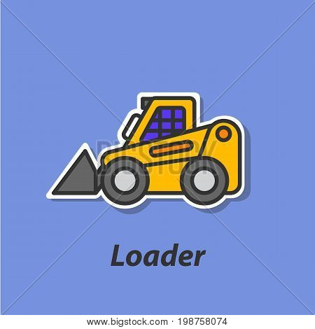 Loader color flat icon. This is the vector icon for websites and electronic applications. This icon have a size of 48 by 48 pixels. Also you can edit the size of the icon in the graphical editor.