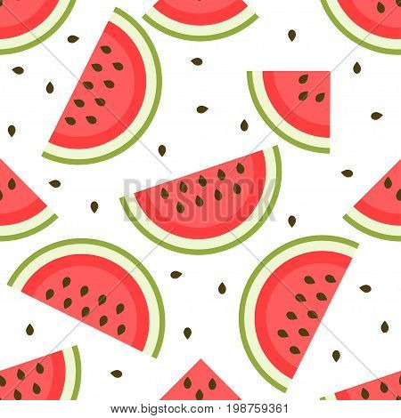 background with tasty and sweet watermelon slices