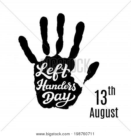 Left Handers Day Typography Poster