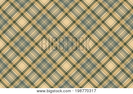 Tartan check plaid seamless fabric texture. Vector illustration.