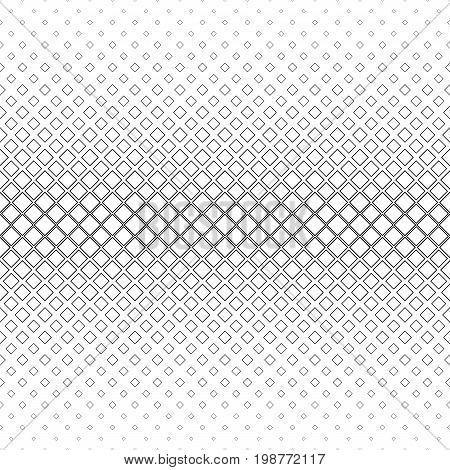 Monochrome abstract square pattern background - black and white geometric vector graphic from diagonal squares