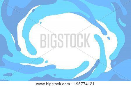 Blue splashes in a vortex blots isolated on white background. Vector splash background.
