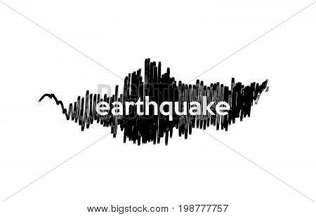 Earthquake Seismology Logo Vector Icon Design