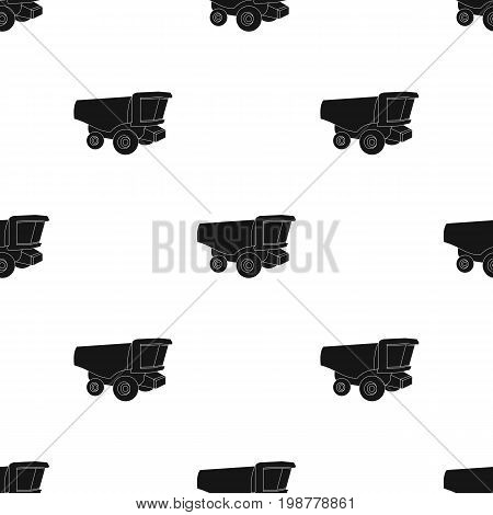Truck with a large windshield. Agricultural Machine for  of cut plants.Agricultural Machinery single icon in black style vector symbol stock web illustration.