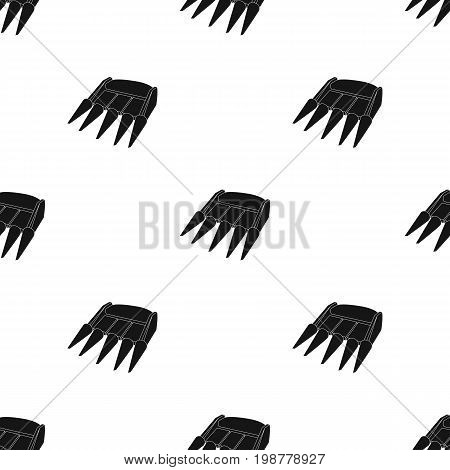 The yellow nozzle on a tractor with a cone-shaped spikes. The nozzle of agricultural machinery for the harvest.Agricultural Machinery single icon in black style vector symbol stock web illustration.