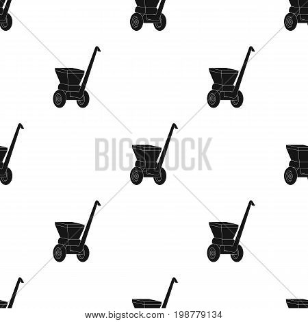 Agricultural Machinery .The machine for cutting agricultural hay.Agricultural Machinery single icon in black style vector symbol stock web illustration.