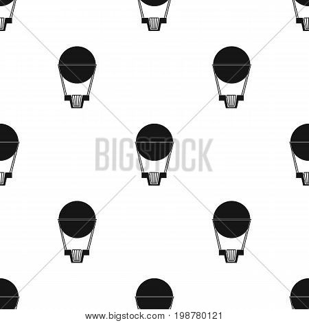 Aerostat. Pink big balloon for flight and travel.Amusement park single icon in black style vector symbol stock web illustration.