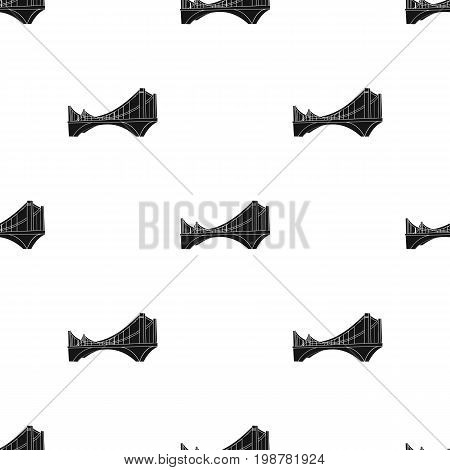 Bridge icon in black design isolated on white background. Architect symbol stock vector illustration.