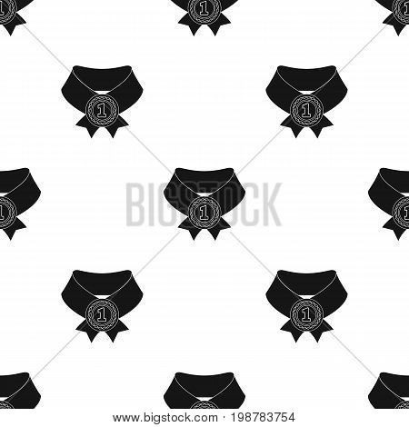 The gold award.Medal of medalist.Awards and trophies single icon in black style vector symbol stock web illustration.