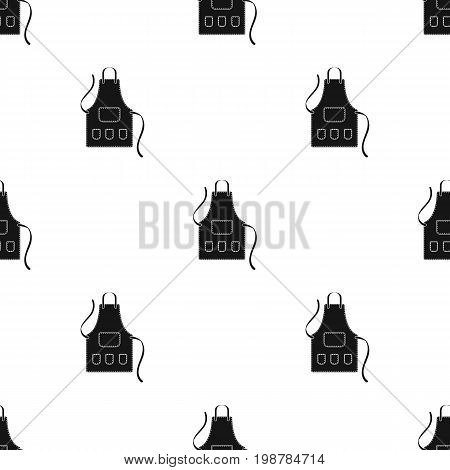 Apron of a hairdresser with pockets.Barbershop single icon in black style vector symbol stock illustration .
